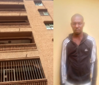 Lady dies after boyfriend pushed her from a 5-storey building in Anambra (photos )