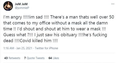 Man Who Refused To Wear Face Mask Dies Of COVID-19