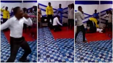Pastor dies mysteriously while preaching in church (Watch shocking video)