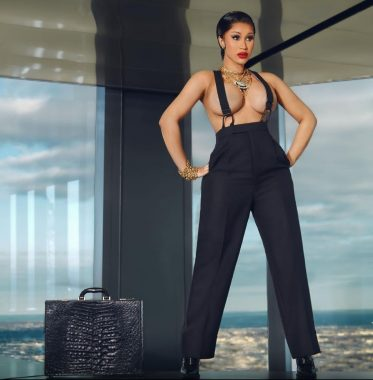 Cardi B goes topless for magazine shoot (Photos)