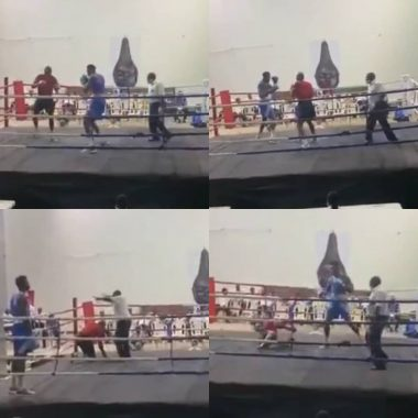 Nigerian boxer knocks out his opponent in 15 seconds (video)