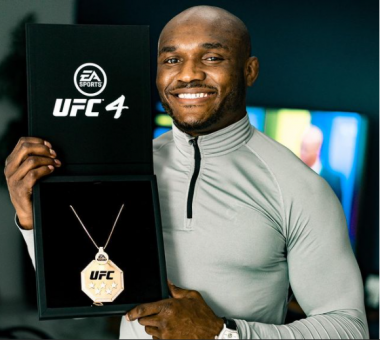 UFC Champion, Usman Plays Snippet Of Burna Boy's Yet-To-Be-Released Single