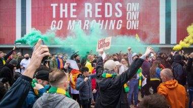 Manchester United: See the reason for the protest at Old Trafford (PHOTOS)