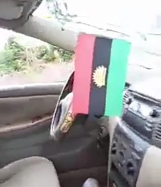 Soldiers Smashed A Lawyer's Car In Imo Over Biafran Flag (Photos)