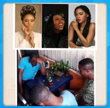 Singer Chidinma Caught Preaching At A Beer Parlour (Video)