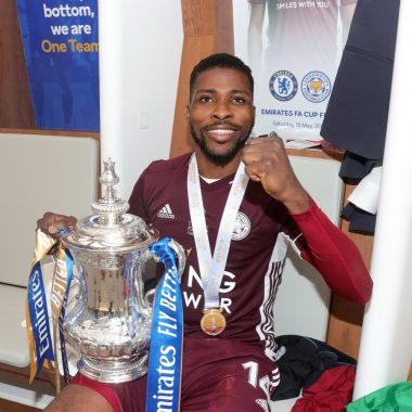 Kelechi Iheanacho Dance In Dressing Room After FA CUP Win (VIDEO)
