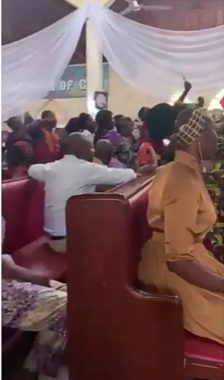 Chelsea Fans Celebrating Their Victory In Church
