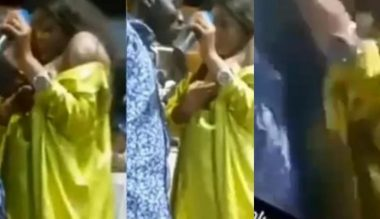 Holy Milk: Female pastor gives church members her breast to suck (Video)