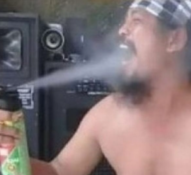 Man who went viral when he sprayed insecticide into his mouth dies