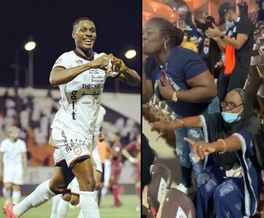 Ighalo score in front of his mum who was watching him play live for the first time (Video)