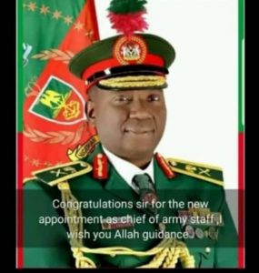 BREAKING: President Buhari Appoints A New Chief Of Army Staff (Photos)