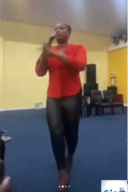 Pastor's wife curses church members for not contributing money for her birthday (video)