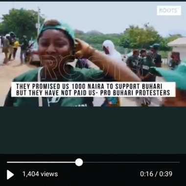 They Promised Us N1,000 To Support Buhari - Video