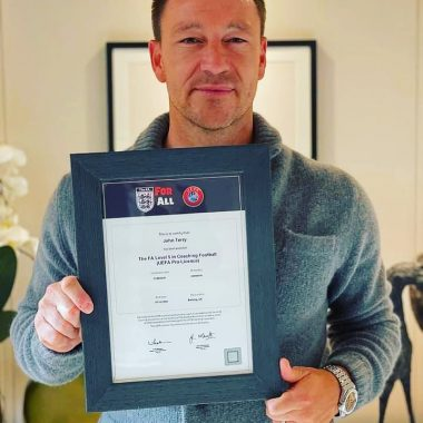 Congratulations To Legend John Terry On Completing The UEFA Pro
