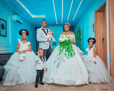 Chacha Eke celebrate 8th wedding anniversary with lovely family photos