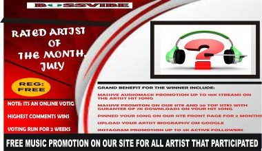 RATED ARTIST OF THE MONTH, JULY 2021.