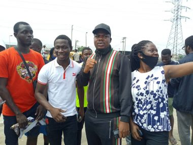 June 12: Mr Macaroni Joins Protesters In Lagos (Photo)
