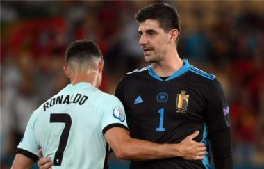 Euro 2020: See What Cristiano Ronaldo told Courtois after Belgium defeated Portugal
