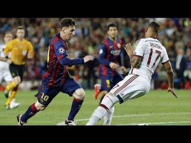 The Young Lionel Messi Humiliating Great Players - Watch Video