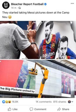 Lionel Messi's Images Being Removed From Nou Camp