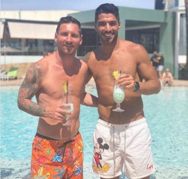 Barcelona-banned Messi parties with Luis Suarez - See Why