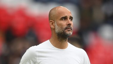 Guardiola reacts to Messi's goal against Man City
