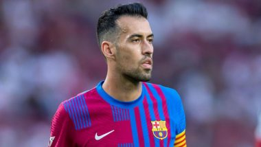 Sergio Busquets unhappy with the performance of his team mate